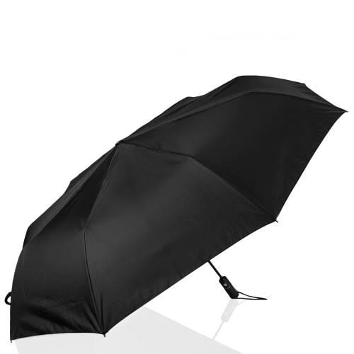 Зонт мужской автоматический зонт с большим куполом, антиветер  ТРИ СЛОНА RE-E-700, цвет черный.