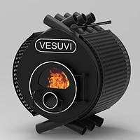 Булерьян, отопительная печь «VESUVI» Classic «01» стекло+префорация 11 кВт-250 М3