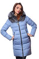 Куртка женская зимняя PEERCAT Р17-598 серо-голубой