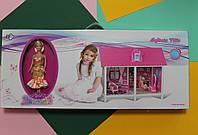 Одноэтажный кукольный домик в коробке 86*7*36 см