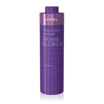 Серебристый шампунь для холодных оттенков блонд Estel Professional Prima Blonde Shampoo, 1000 мл.
