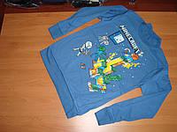 Реглан Майнкрафт Minecraft с начесом размер  152 164см