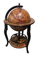 Глобус бар напольный Континенты кофейный сфера 45 см Гранд Презент 45046N-M
