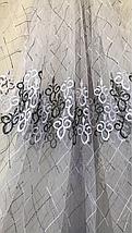 Тюль фатин высота 2.8м 705-black, фото 3