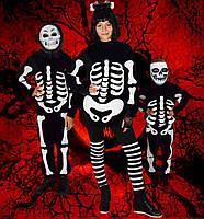 Скелет ( девочка ). 128-152 см. Детские карнавальные костюмы на Хэллоуин