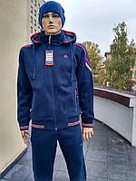 Зимний тёплый спортивный костюм  трикотаж 3 нитка + начёс, Турция.