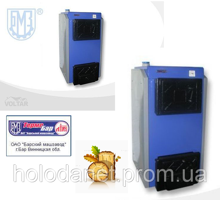 Котел твердотопливный Термобар КСТ-18-1 длительного горения без плиты