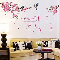 Интерьерная наклейка на стену Птицы на ветке (XL8166)