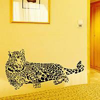 Интерьерная наклейка на стену Леопард (110х52)