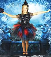 Ведьмочка-Чаровница. 134-152 см. Детские карнавальные костюмы на Хэллоуин