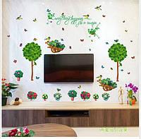 Интерьерная наклейка на стену Зеленый уголок  (SK7083)