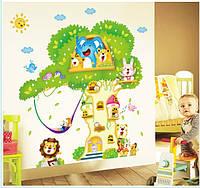 Интерьерная наклейка на стену  Домик на дереве (GS8130)