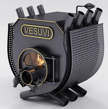 Булерьян, отопительная печь «VESUVI» с варочной поверхностью+стекло+перфорация «03» 27 кВт-750 М3, фото 2