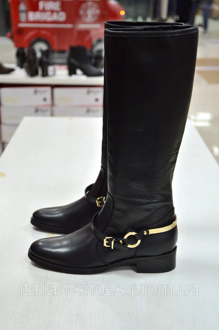 Сапоги черные кожаные со съемным ремешком Diffusione к.-505