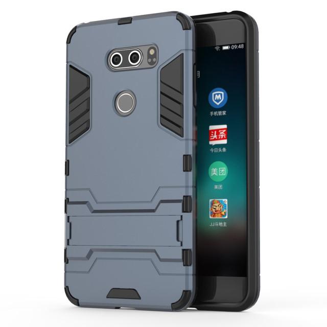 чехол накладка LG V30  противоударный темно-синий