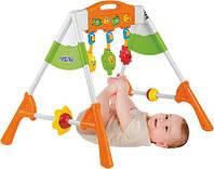 Тренажер детский 2145 (4шт) муз,зв,свет,подвески3шт(зеркало,2погремуш)на бат-ке,в кор-ке,50-40-10см