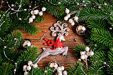 Новогоднее украшение Олень микс 0138, фото 3