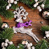Новогоднее украшение Олень микс 0138