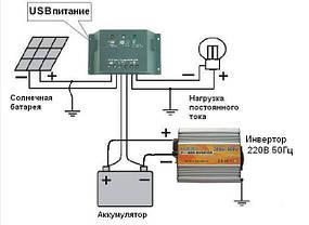 Солнечная зарядная электростанция для электровелосипеда 10 Вт. Зарядное для аккумуляторов., фото 3