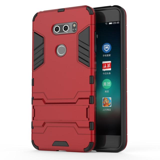 чехол накладка LG V30  противоударный красный