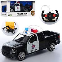 Джип на радиоуправлении полиция Police 3699, 33см: аккумулятор + резиновые колеса + свет/звук