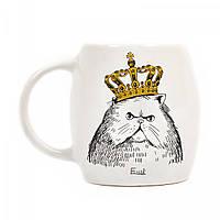 """Подарочная кружка """"Кот в короне"""", размер"""