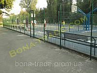 Прочная заборная сетка футбольного поля