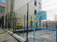 Оцинкованные заборные секции для спортивных площдок