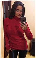 Свитер Гольф Париж 529 размер 42-48р  красный