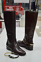Сапоги темно-коричневые кожаные со съемным ремешком Diffusione к.-505, фото 1