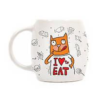 """Дизайнерская кружка с котом """"Хочу ще!"""" матовая"""