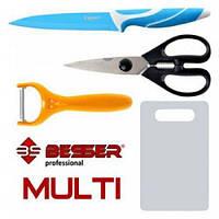 Кухонный набор ножей Multi 4 в 1 Besser 10149 не требует заточки.
