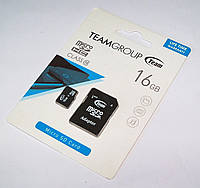 Карта памяти 16ГБ microSDHC TeamGroup 16Gb class 10 + SD adapter (флешка Team microSDTF)