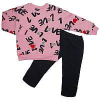 Костюм для девочки на байке 4-7лет  2-ка  кофта+штаны арт.171151