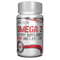 Рыбий жир BioTech Omega 3, 90 softgel капс.