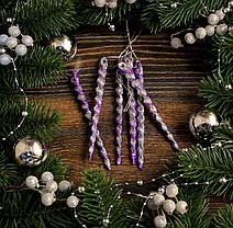 Новогоднее украшение Сосулька микс 6шт 0134, фото 2