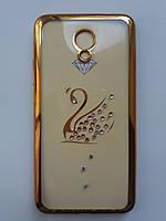 Силикон Kingxbar Samsung J120 Swan (Gold), фото 1
