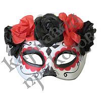 Полу маска пластик День мертвых