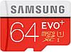 Samsung 64 GB microSDXC Class 10 UHS-I EVO Plus + SD Adapter MB-MC64DA