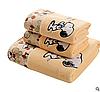 "Набор полотенец микрофибра. Банное и лицевое полотенце ""I love Snoopy"". Полотенце для бани и лица, фото 2"