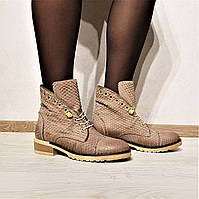 Итальянские женские кожаные ботинки от TM L'Estrosa