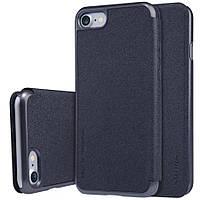 Кожаный чехол-книжка Nillkin Sparkle Series для Apple iPhone 7/8 Черный