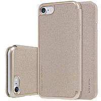 Кожаный чехол-книжка Nillkin Sparkle Series для Apple iPhone 7/8 Золотой