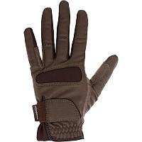Перчатки для верховой езды Grippy Fouganza коричневые