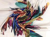 Шейный платок кашемировый   с абстрактным рисунком 96см
