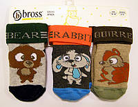 Детский набор махровых носочков с тормозками мальчиковые  19-21р(12-18мес)