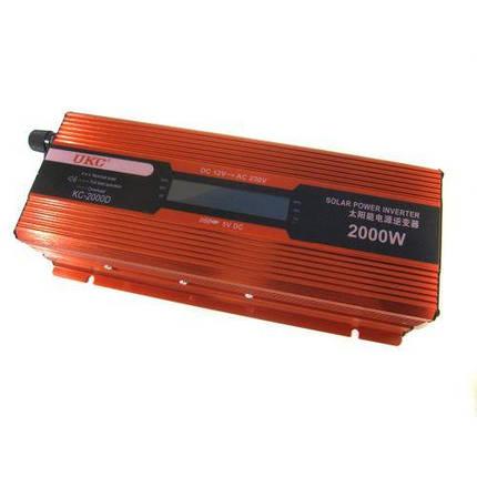 Преобразователь UKC авто инвертор 12V-220V 2000W LCD KC-2000D, фото 2