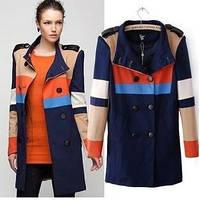 Пальто разноцветное синее VEro Moda