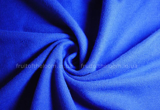 Ярко-синее женское поло 65/35