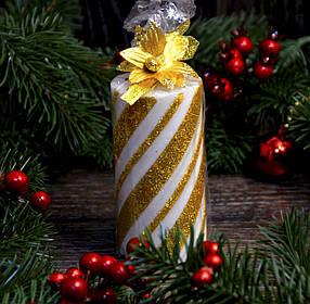 Новогодняя свеча большая (спираль) 0525